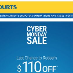 Courts: Coupon Code for Additional $110 OFF Your Order Online