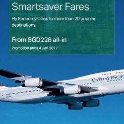 Cathay Pacific: Smartsaver Economy Class Fares to over 20 Cities from $228 All-Inclusive