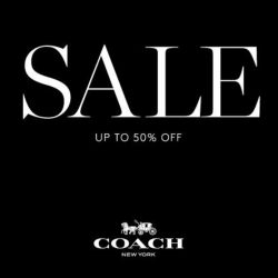 Coach: Winter Sale Up to 50% OFF Your Total Bill + Additional Up to 15% OFF for VIPs & UOB Cardmembers