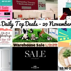 BQ's Daily Top Deals: Watsons 25% OFF + $7 OFF, Coach Winter Sale, Samantha Thavasa Bazaar Sale, Reebonz Xmas Sale, Epitude Warehouse Sale, Pets' Station Warehouse Sale, $9.90 Ramen at Ippudo & More!