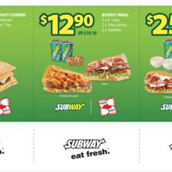 Subway: Save up to $10.10 with Coupons for Dine-in and Takeaway