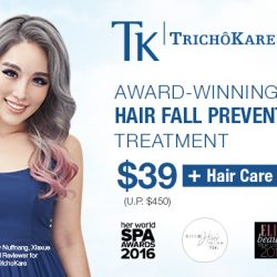 TK TrichoKare: Award-winning Hair Fall Prevention Treatment at $39 Only + Free Hair Care Kit (worth $450)!