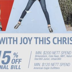 DBS/POSB Cards: 15% OFF Final Bill at Birkenstock, Cole Haan, American Eagle Outfitters, MBT & More!