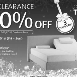 Tempur: Festive Clearance Sale up to 70% OFF Mattresses and Pillows