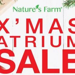 Nature's Farm: X'mas Atrium Sale Up to 50% OFF Supplements at VivoCity