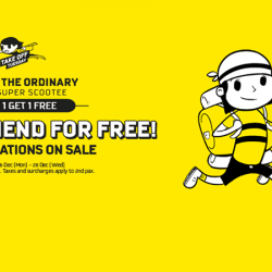 FlyScoot: Buy 1 Get 1 Free on 21 Destinations including Melbourne, Guangzhou, Seoul, Taipei, Hokkaido, Bangkok and more!