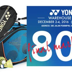 YONEX: Warehouse Sale Up to 80% OFF Apparel, Badminton & Tennis Racquets, Footwear & more