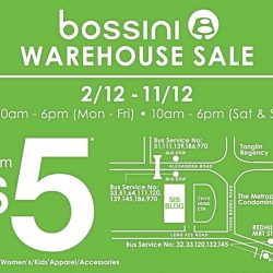 Bossini: Warehouse Sale with Deals Starting from $5!
