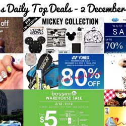 BQ's Daily Top Deals: Scholl/Rockport Warehouse Sale, Yonex Warehouse Sale, $1 Gong Cha, Bossini Warehouse Sale, Gain City Food Festival & Expo 2016, Typo Limited Edition Mickey Mouse Collection & More!