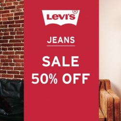 Levi's: 50% OFF Levi's jeans with Minimum Purchase of any 2 Pairs