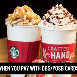 Starbucks: Enjoy $2 OFF when You Pay with DBS/POSB Cards on Apple Pay!