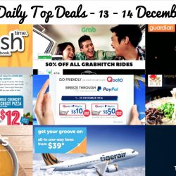 BQ's Daily Top Deals: 50% OFF GrabHitch Rides, 1-for-1 Ramen, 1-for-1 Soup Set, $12 Large Pizza, 40% OFF at Fred Perry, Tigerair Return for FREE Sale & More!