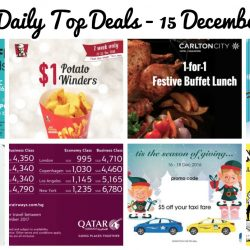 BQ's Daily Top Deals: 1-for-1 Chocoffee Tiramisu Frostyz, 1-for-1 Festive Weekday Buffet, $1 KFC Winders, Chun Cui He Drink Promo, BHG Expo Sale, Qatar Airways Sale Fares & More!
