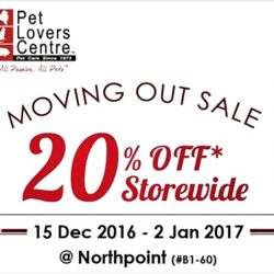 Pet Lovers Centre: Enjoy 20% OFF Storewide at Northpoint Outlet