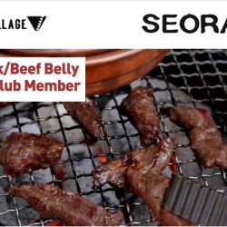 Seorae Korean Charcoal BBQ: FREE US Pork/Beef Belly for Golden Village Members!