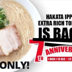 Ippudo: 7th Anniversary Promo - Extra Rich Tonkotsu Ramen at only $9.90!