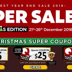 Qoo10: Up to $100 Cart Coupons Up for Grabs & Biggest Year End Sale!