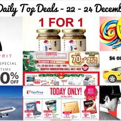 BQ's Daily Top Deals: 1-for-1 Samsui Ginger Sauce, Zara Year End Sale, Metro 20% OFF Storewide, $6 OFF Taxi Fare, Esprit 30% OFF Storewide, Singapore Airlines Special Fares & More!