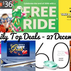 BQ's Daily Top Deals: Coupon Codes for Special SQ Fares, Jetstar Boxing Day Sale, Scoot 1-for-1, Free GrabTaxi Ride, 1-for-1 Starbucks Drink, Melissa and Sephora Sale!