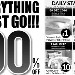 Jean Perry: Ex-Stocks Warehouse Clearance Sale Up to 90% OFF Beddings & Bedlinen!