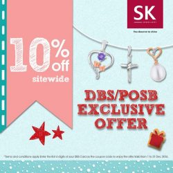 SK Jewellery: Coupon Code for 10% OFF Sitewide with DBS/POSB Cards