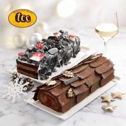 [TCC - The Connoisseur Concerto] Jazz it up this Christmas with tcc's Black Forest & Chocolate Raspberry log cakes. Because what's a festive celebration