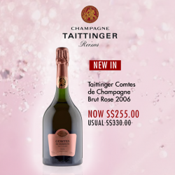 [The Oaks Cellars] NEW IN!Taittinger Comtes de Champagne Brut Rose 2006http://bit.ly/2fHLQnZ#theOaksCellar #champagnelover #lifestyle #lovechamgapne #sg #sgonlinesale #sgonlineshop #