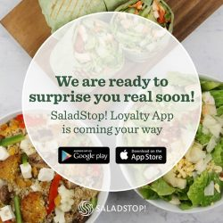 [Salad Stop] YES! We are introducing our very own loyalty App! Get healthy, collect stamps, earn exciting rewards and much more! #eatwideawakeapp