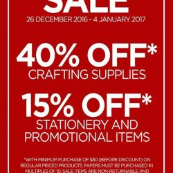 [Papermarket] Woohooo! Boxing Day Sale is now on! Hurry down to our stores now!