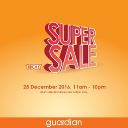 [Guardian] 1-Day Super Sale is here again! With discounts of up to 70% and gifts with purchase.For just one