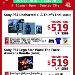 [CHALLENGER MINI] Want to enjoy attractive member savings on these Sony PS4 bundles, with FREEBIES?Then head down to Suntec City Level