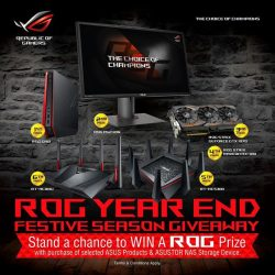 [ASUS] It's time for the ROG year end festive season giveaway! Stand a chance to win a ROG prize with
