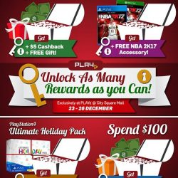 [PLAYe] Spice up your last-minute Christmas shopping this weekend! Visit PLAYe @ City Square Mall (http://bit.ly/PLAYeCitySqMall) to enjoy