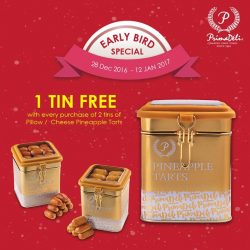 [PrimaDeli] From now till 12 Jan, get 1 FREE tin with every purchase of our delicious Pillow/Cheese Pineapple Tarts!Hurry,