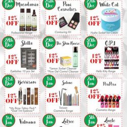 [NICE Cosmetics] 12 DAYS X'MAS PROMOTION @ NICE CosmeticsChoose your favorite products at additional 12% discount ! Come visit us today as