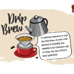[O' Coffee Club] Also known as V-60 drip or pour-over coffee, hot water is added to a coffee ground bed, allowing