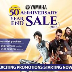 [YAMAHA MUSIC SQUARE] LAST 2 DAYS!Yamaha Ultimate 50th Anniversary Year End Sale is coming to a close. Visit our retail stores today