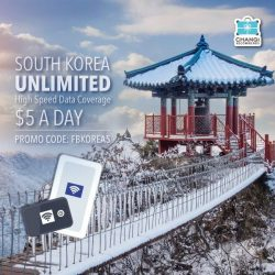 [Changi Recommends] UNLIMITED data usage at only S$5 a day when you use promo code FBKOREA5 during online booking PLUS 24/
