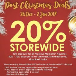 [Precious Thots] The Christmas merriment is not over yet! Enjoy 20% OFF STOREWIDE* from 26 Dec 2016 - 2 Jan 2017. T&Cs