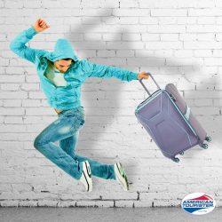 [American Tourister] Here's another reason to jump for joy this holiday season – our Air Shield luggage is on 20% discount!