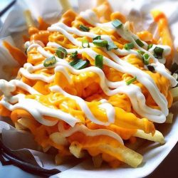 [49 Seats] Overflowing lavalicious cheesefries is here to save the day!!! Get it now at $7.90nett. DAYUM!