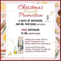 [BsaB] Buy 2 sets of Diffuser 200 ml (recovered perrier bottle) at $280 (UP $376) and get 1 more Diffuser 15
