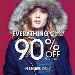 [Aeropostale] SATURDAY IS THE LAST DAY TO SAVE IN ALL STORES! Nothing Held Back! Everything Must Go!