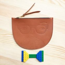 [The Little Drom Store] Donna Wilson 100% leather zip pouch, LAST PC. $69