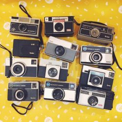 [The Little Drom Store] Finally letting go of some of our instamatic cameras that we had displayed behind our counter for the past 7