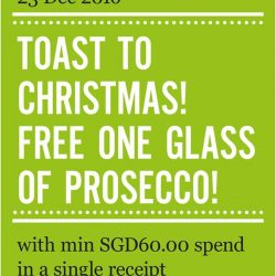 [Marché Mövenpick Singapore] Toast to a long weekend ahead! Free glass of Prosecco with $60 spend in a single receipt at Marché Mö