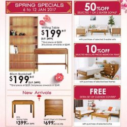 [Isetan] Welcome the new year with Scanteak's exclusive deals! Get your home ready for this festive season with the warmth