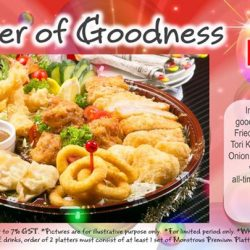 [Monster Curry] Good things come in Pairs, because you deserve it!Enjoy 6 FREE drinks with order of 2 platters!  T&Cs