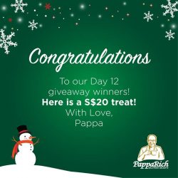 [PappaRich] Congrats Vivian Ongyean! You're our lucky winner for Day 12 giveaway! Do PM us your email and mailing address