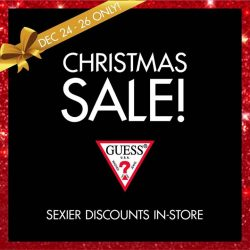 [GUESS Singapore] CELEBRATE CHRISTMAS WITH GUESS! Don't miss this special Christmas SALE: GUESS Jeans & Accessories - Enjoy an ADDITIONAL 20% OFF* with